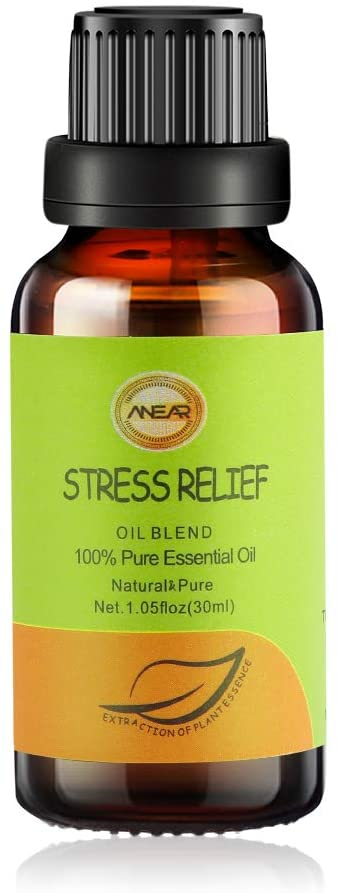 ANNEAR FUNCTIONAL STRESS RELIEF ESSENTIAL OIL 30 ML - SOOTHING DECOMPRESSION OIL 'FOUR INGREDIENTS:SWEET ORANGE ,ROSE,GERANIUM,PALM OIL FOR AROMATHERAPY & DIFFUSERS